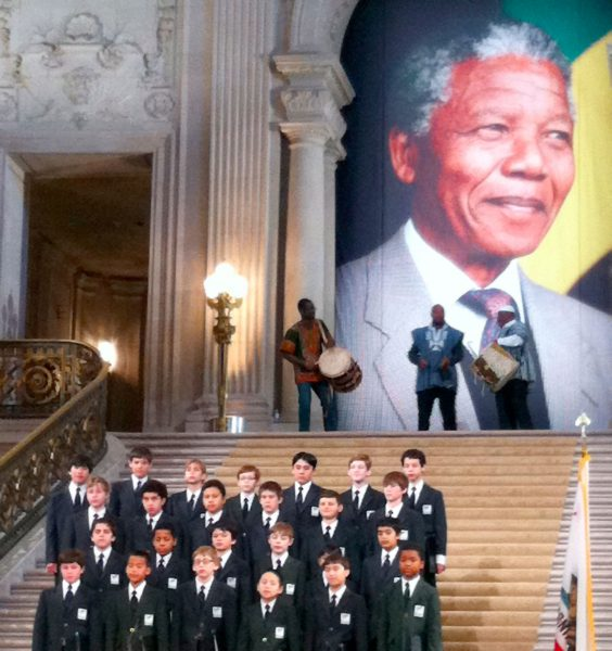 PBA performs for the Nelson Mandela memorial services