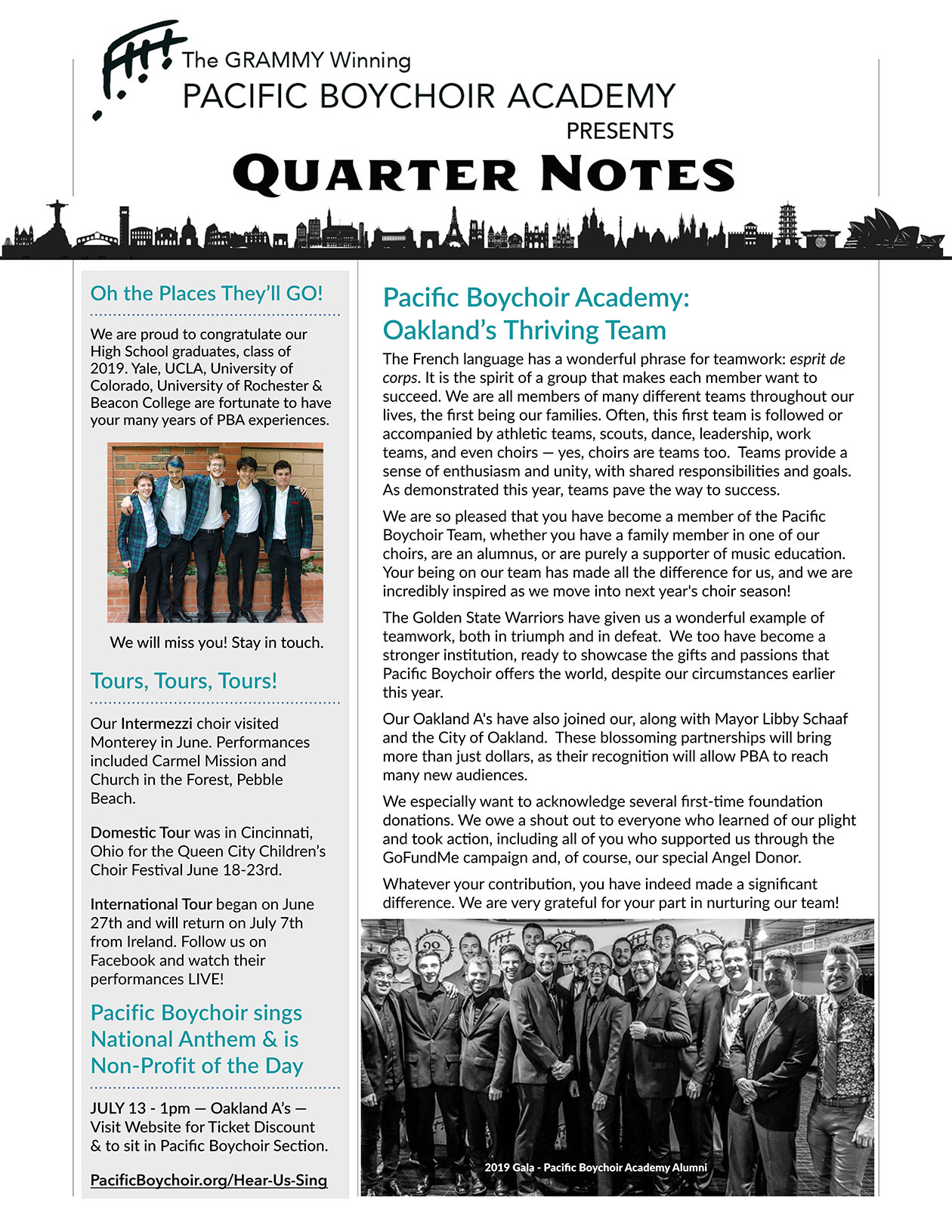 Quarterly Newsletter – Volume 12